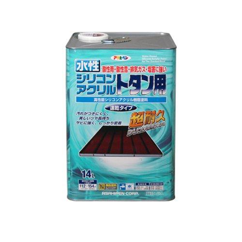 【送料無料】アサヒペン 水性シリコンアクリルトタン用 オーシャンブルー 14L