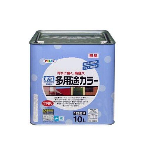 アサヒペン 水性多用途カラー 10L 黒【北海道・沖縄・離島配送不可】