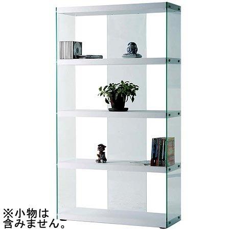 【送料無料】グラスシェルフ HAB-624WH