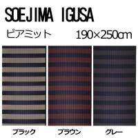 【送料無料】いぐさマット SOEJIMA IGUSA(そえじまいぐさ) 掛川織 ピアミット 190×250cm ブラック・5581【代引不可】
