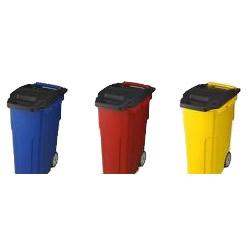 移動できる4輪キャスター付きゴミ箱 キャスターペール 45C4 R・レッド【代引不可】