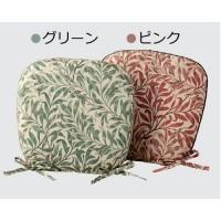 【送料無料】川島織物セルコン モリスデザインスタジオ ウィローボウ 機能中材入りダイニングシートクッション 46×44Vcm LN1717 ピンク【代引不可】