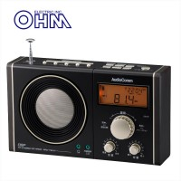 【送料無料】OHM 07-7941 書斎ラジオ ワイド 黒・金 RAD-T941N【代引不可】