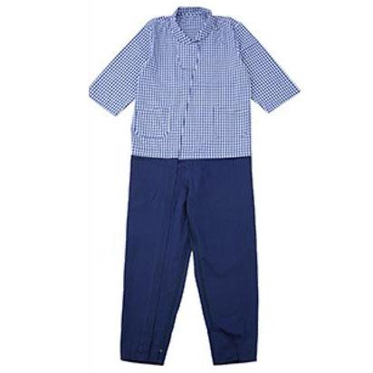介護用 つなぎパジャマ サックス・S・38808-04【代引不可】