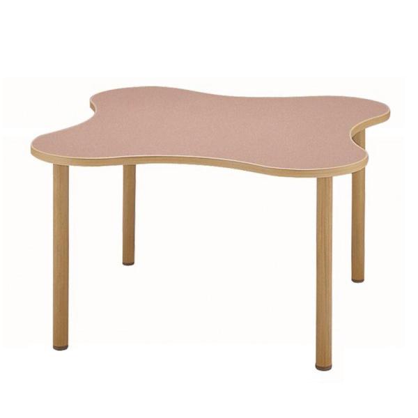 【送料無料】サンケイ 変形テーブル(H700~750mm) TCA1200-ZW ローズ【代引不可】