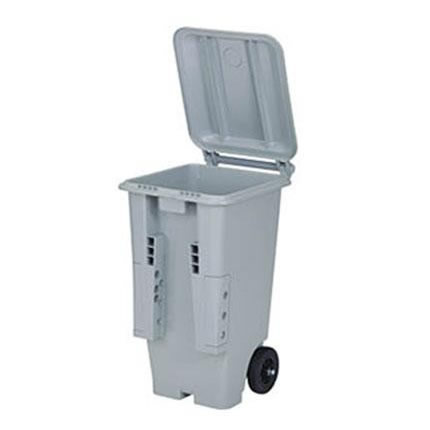【送料無料】三甲 サンコー サンクリーンボックス SCB-Pシリーズ 2輪キャスター付き大型ごみ箱 SCB130P フタ:ライトグレー 613000-04【代引不可】