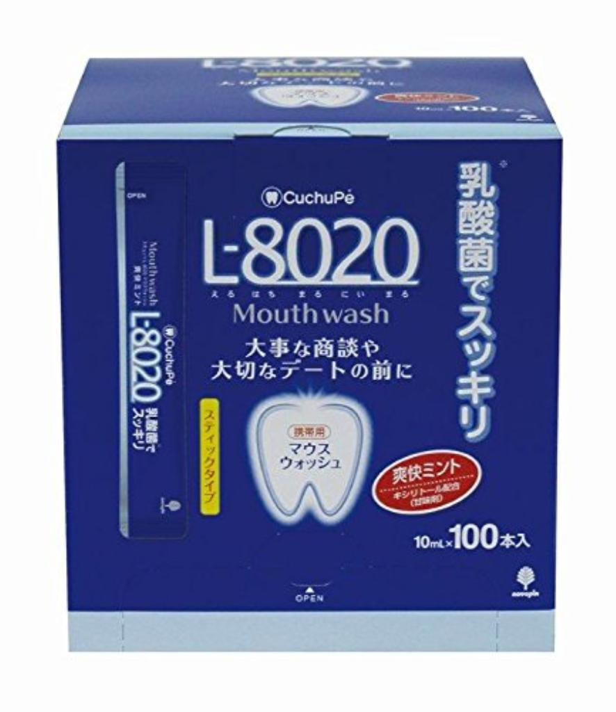 【送料無料】日本製 japan K-7049 クチュッペ L-8020 爽快ミント スティックタイプ100本入(アルコール) 〔まとめ買い10個セット〕【代引不可】