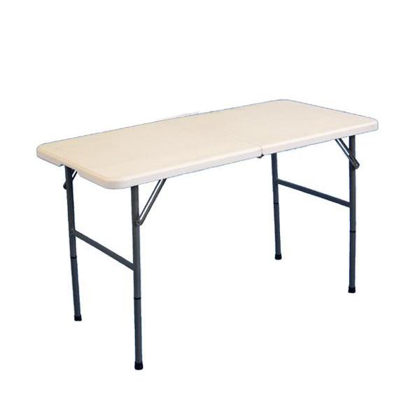 PE折り畳みテーブル 約120cm TAN-599-120【代引不可】