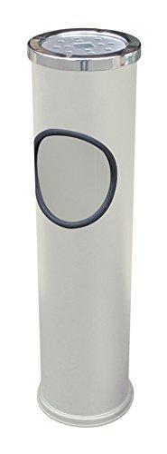 【送料無料】日本製 Japan 土井金属化成 スタンド灰皿 CAN(WH) 〔まとめ買い6個セット〕 【代引不可】