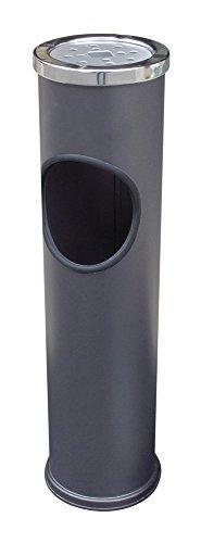 【送料無料】日本製 Japan 土井金属化成 スタンド灰皿 CAN(BK) 〔まとめ買い6個セット〕 【代引不可】