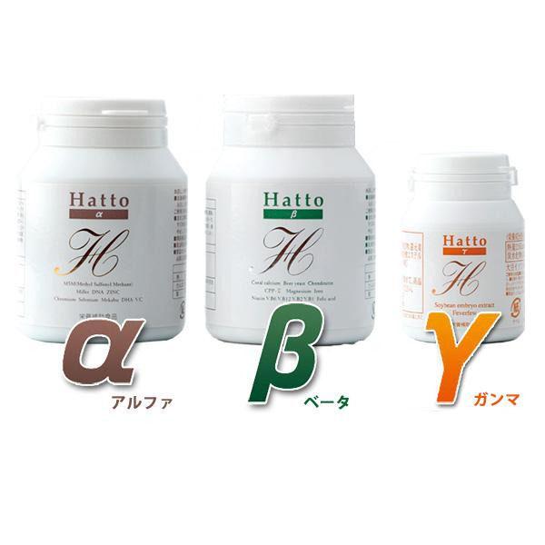 【送料無料】ヘアケアサプリメント Hatto-α&Hatto-β&Hatto-γ 各3本セット【代引不可】