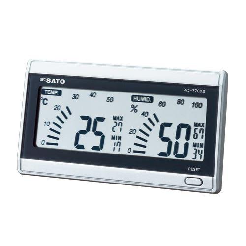 (まとめ買い)佐藤計量器 デジタル温湿度計 PC-7700II 1069-00 00009668 〔3個セット〕