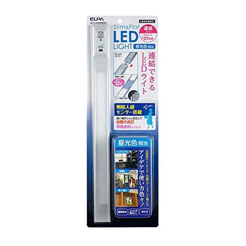(まとめ買い)ELPA LED多目的灯 Slim&Flat LEDライト 連結タイプ 明暗人感センサー搭載 全長約37cm 5W 昼光色 260lm ALT-J1030PIR(D) 〔×3〕【北海道・沖縄・離島配送不可】