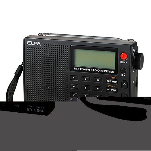 (まとめ買い)ELPA AM/FM高感度ラジオ ER-C56F 〔×3〕
