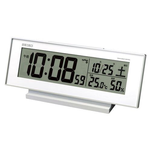 (まとめ買い)セイコー 夜でも見える電波時計 SQ762W 00019196 〔3個セット〕【北海道・沖縄・離島配送不可】