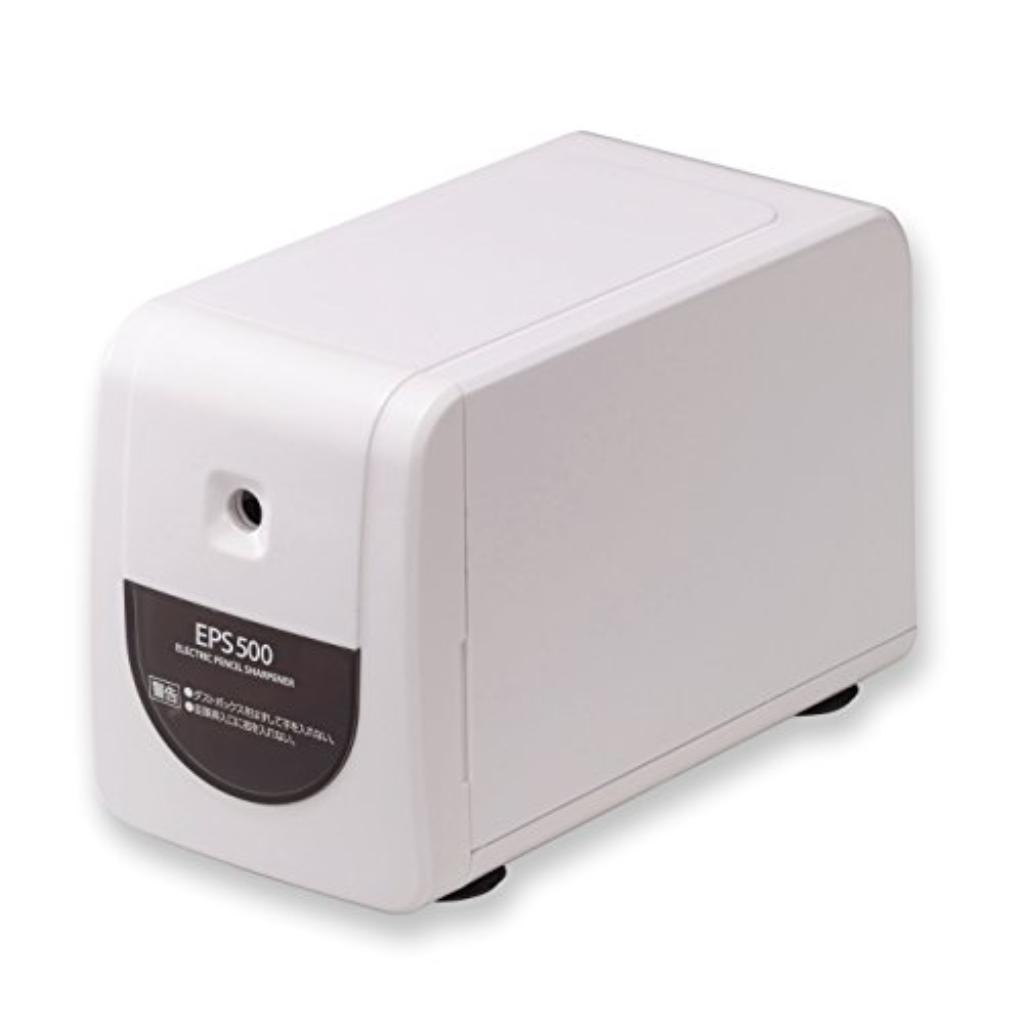 (まとめ買い)アスカ 電動シャープナー 縦型 ホワイト EPS500W 00026764 〔3台セット〕