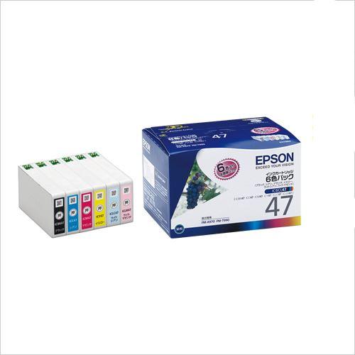 (まとめ買い)エプソン インクカートリッジ(6色パック) IC6CL47 00067475 〔×3〕【北海道・沖縄・離島配送不可】