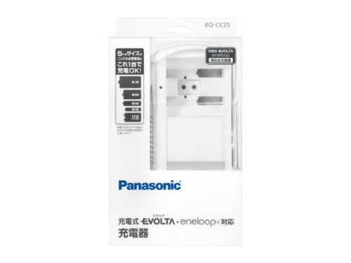 (まとめ買い)パナソニック 充電式電池専用充電器 単1~4形 6P形 BQ-CC25 00018319 〔3個セット〕