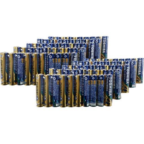 (まとめ買い)東芝 アルカリ乾電池 単四 100本パック LR03L100P 00030125 〔×3〕