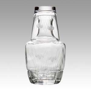 (まとめ買い)双葉 冠水瓶 あやめ切子 60-77 00073535 〔×3〕