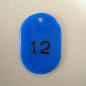 (まとめ買い)クラウン 番号札 番号入〔小1-100〕 青 CR-BG31-BL 00031254 〔×3〕