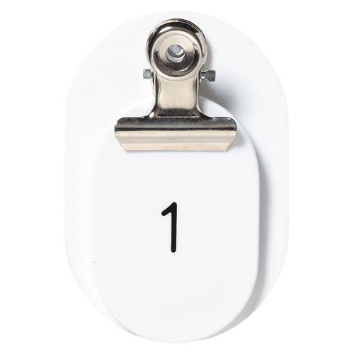 【送料無料】(まとめ買い)クラウン PP親子札2枚組ポリプロピレン番号入連番 CR-PY50-W 00019899 〔×3〕