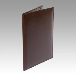 (まとめ買い)コレクト 調印・証書ホルダー濃茶A4判布レザー F-244-DB 00074043 〔3冊セット〕