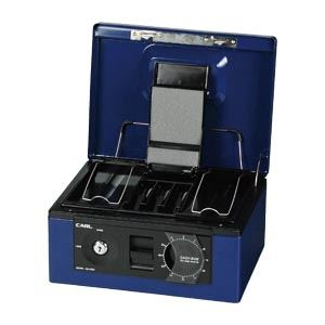 【送料無料】(まとめ買い)カール事務器 キャッシュボックス ブルー CB-8560-B 00001675 〔3個セット〕
