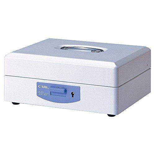 (まとめ買い)カール事務器 スチール印箱(大) SB-7004 00028039 〔3台セット〕