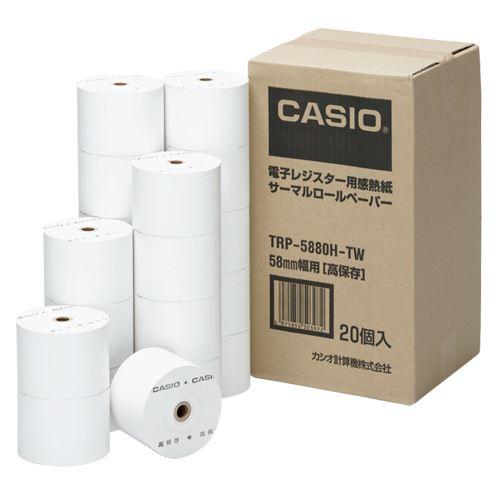 (まとめ買い)カシオ 感熱紙ロールペーパー  TRP-5880H-TW 00037272 〔×3〕【北海道・沖縄・離島配送不可】