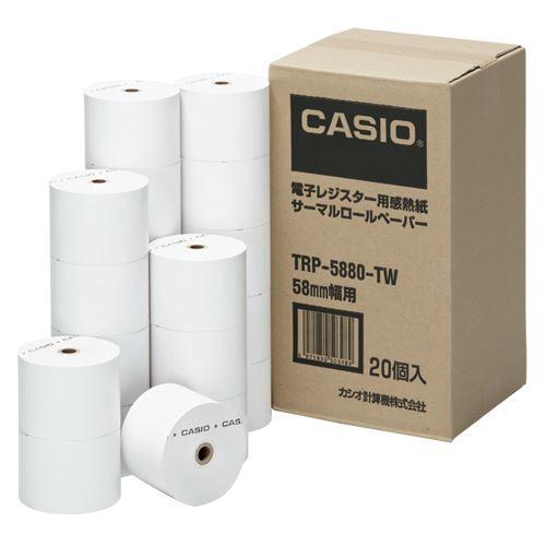【送料無料】(まとめ買い)カシオ 感熱紙ロールペーパー  TRP-5880-TW 00037271 〔×3〕