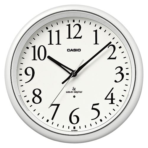(まとめ買い)カシオ 掛け時計 パールホワイト IQ-1050NJ-7JF 00011783 〔3台セット〕【北海道・沖縄・離島配送不可】