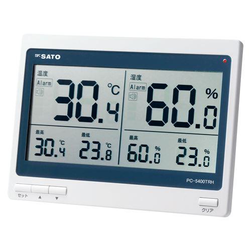 (まとめ買い)佐藤計量器 デジタル温湿度計 PC-5400TRH 1074-00 00013093 〔3個セット〕【北海道・沖縄・離島配送不可】