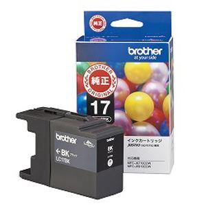 (まとめ買い)ブラザー 大容量インクカートリッジ(黒) LC17BK 00010887 〔3個セット〕【北海道・沖縄・離島配送不可】