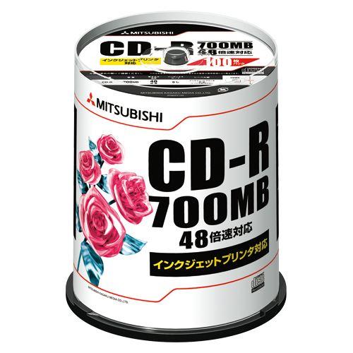 (まとめ買い)三菱化学メディア CD-R PC/DATA用 SR80PP100 00011893 〔×3〕