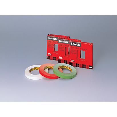 (まとめ買い)スリーエム カラーラベルテープ 256-19L/G 00737564 〔3巻セット〕【北海道・沖縄・離島配送不可】