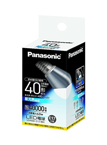 【送料無料】(まとめ買い)パナソニック LED電球 60形 E17口金 昼光色 LDA6DE17BH 00008143 〔3個セット〕