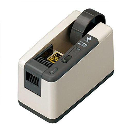 ニチバン 電動テープカッター オートテーパー 1.1kg TCE-100 アイボリー【北海道・沖縄・離島配送不可】