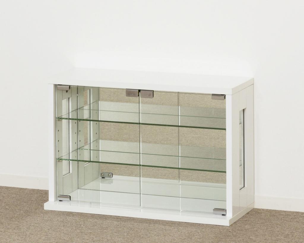 卓上コレクションケース 横型(ホワイト) 27054【代引不可】