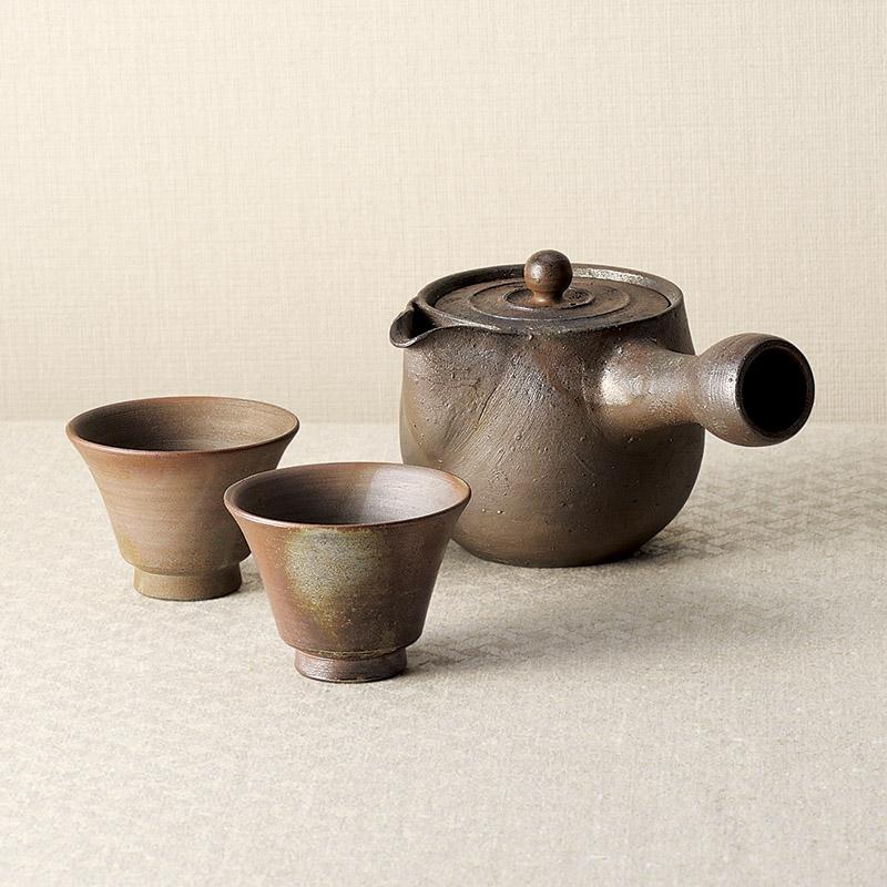 【送料無料】〔ギフト〕備前焼 登り窯茶器揃 TRNCH-150【代引不可】