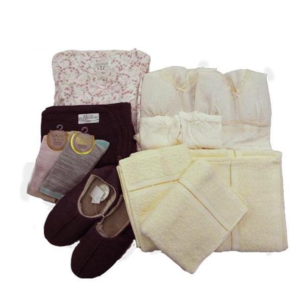 【送料無料】急な入院に!! 入院用衣類12点セット ピンク Lサイズ【代引不可】
