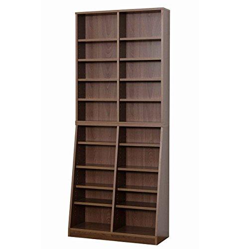 【送料無料】クロシオ SOHO書棚 W75 ウォールナット 幅75奥行29.5高さ180cm 本棚 031142【代引不可】