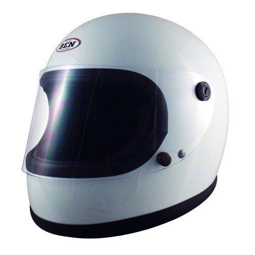 【送料無料】TNK工業 スピードピット ヴィンテージスタイル フルフェイスヘルメット B60 フリーサイズ ホワイト 51178【代引不可】