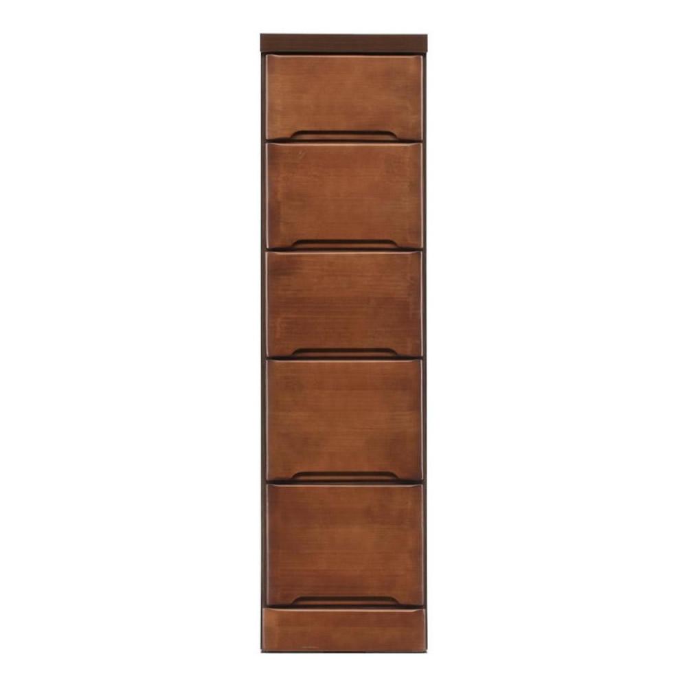 【送料無料】クライン サイズが豊富なすきま収納チェスト ブラウン色 5段 幅27.5cm【代引不可】