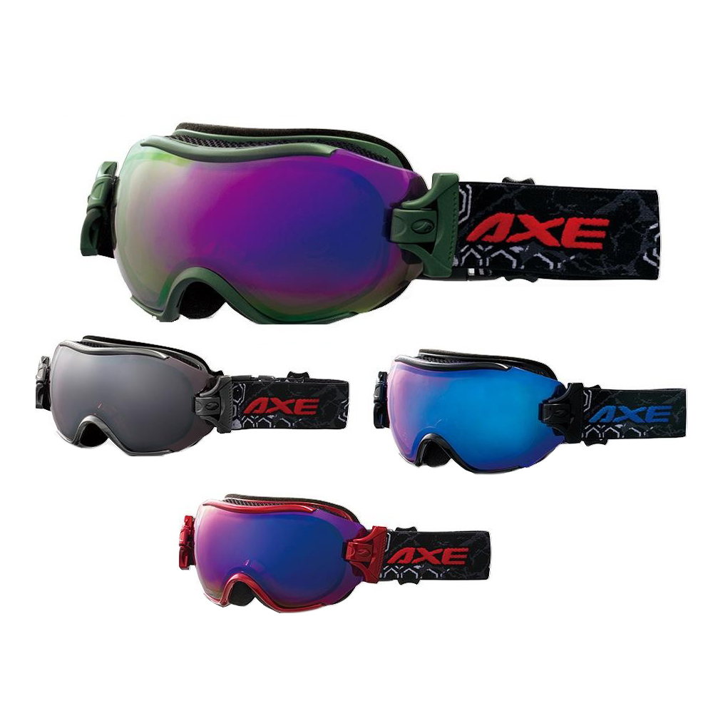 AXE(アックス) メンズ フレームレス 3Dジョイント ゴーグル AX750-WCM RE・メタリックレッド【代引不可】