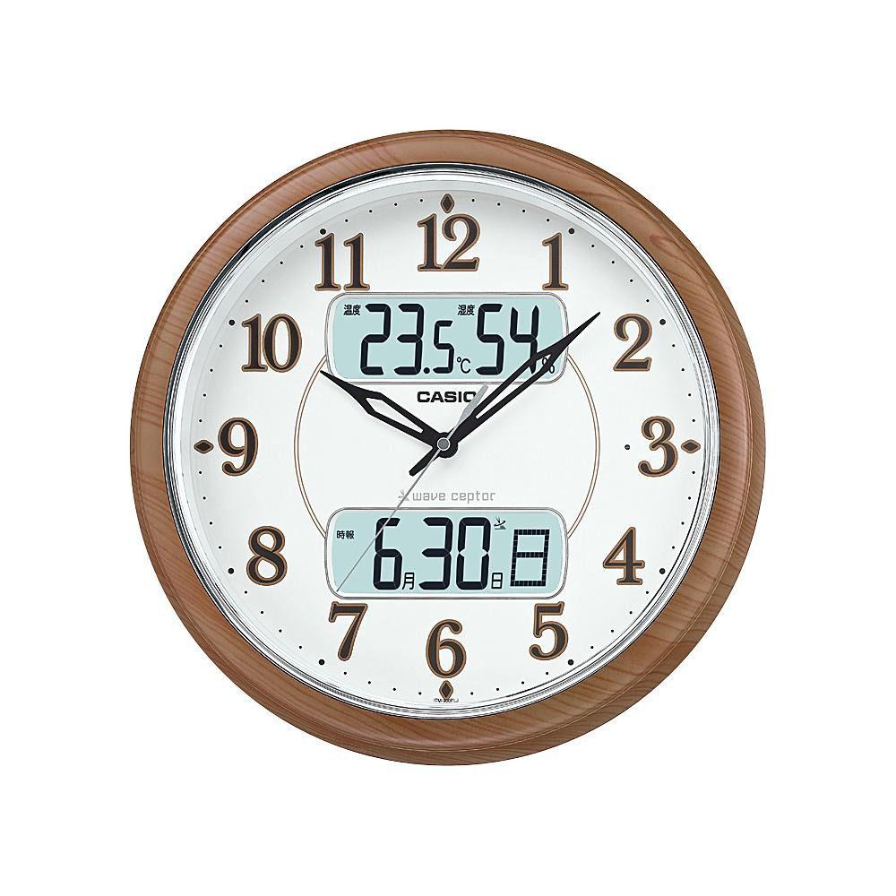 CASIO カシオ 壁掛け時計 アナログ ITM-900FLJ-5JF 湿度計/温度計/カレンダー付き/電波時計【代引不可】【北海道・沖縄・離島配送不可】