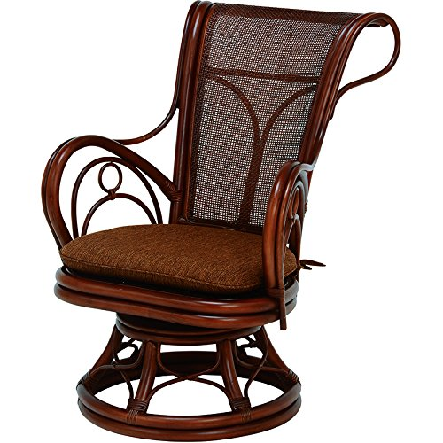 【送料無料】萩原 回転座椅子 RZ-821BR 〔まとめ買い2台セット〕【代引不可】
