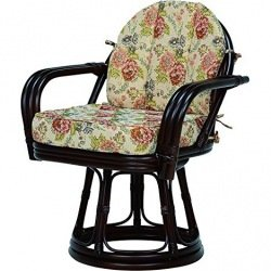 【送料無料】萩原 回転座椅子 RZ-934DBR【代引不可】