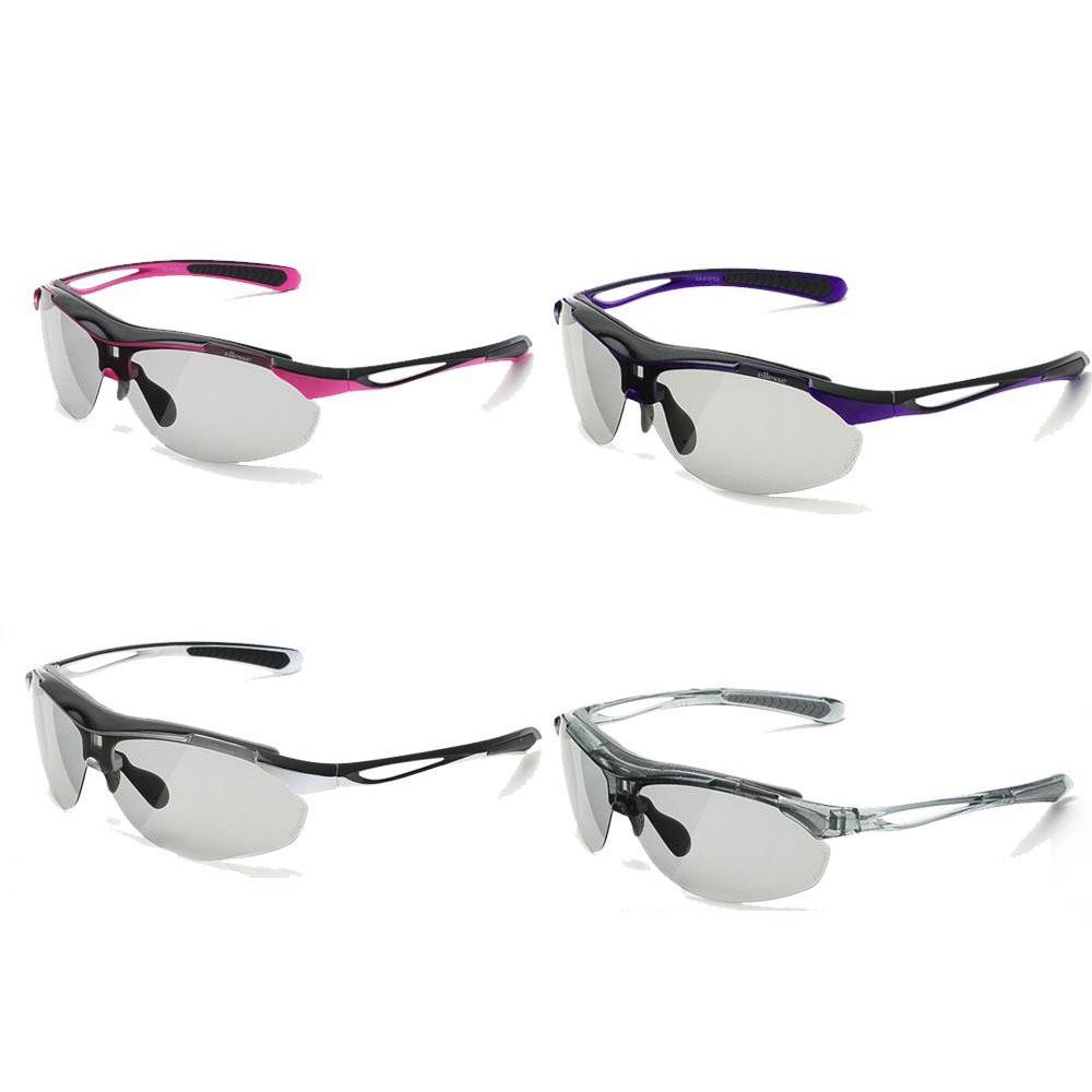 ellesse エレッセ レンズ交換式1眼タイプ スポーツサングラス ES-S107 ブラック×パープル【代引不可】