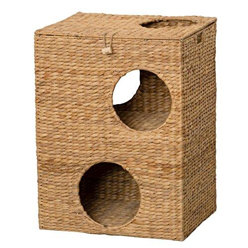 クロシオ キャットプレイハウス 幅43cm 猫ちぐら つぐら キャットハウス 028646【代引不可】【北海道・沖縄・離島配送不可】